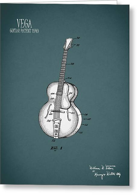 Vega Guitar Patent 1949 Greeting Card