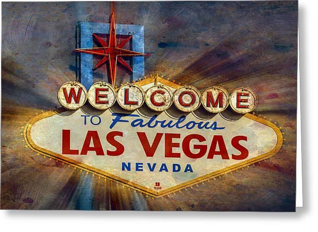 Vegas Baby Greeting Card