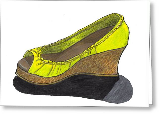 Vegas Shoes Greeting Card by Jean Haynes