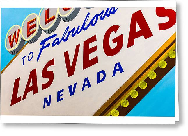 Vegas Tribute Greeting Card by Slade Roberts