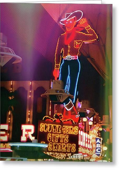Vegas Vic Greeting Card by JAMART Photography
