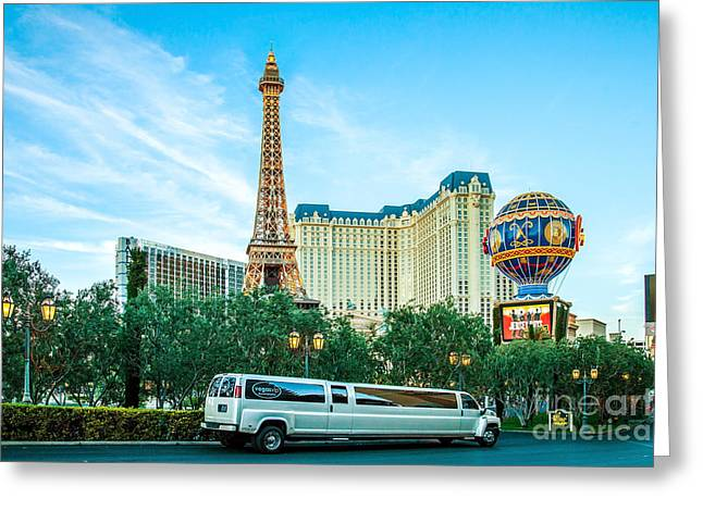 Vegas Vip Greeting Card by Az Jackson