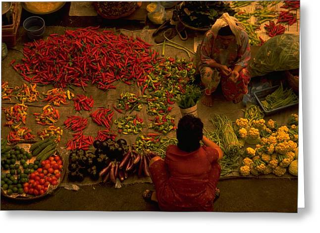 Vegetable Market In Malaysia Greeting Card