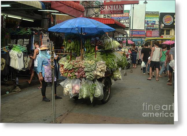 Vegetables Street Seller Greeting Card by Michelle Meenawong