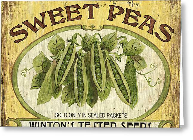 Veggie Seed Pack 1 Greeting Card by Debbie DeWitt
