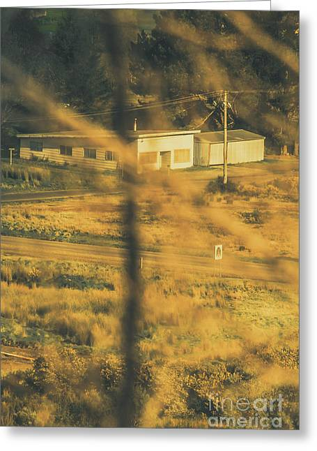 Vegitation View Of Rural Farm Homestead  Greeting Card