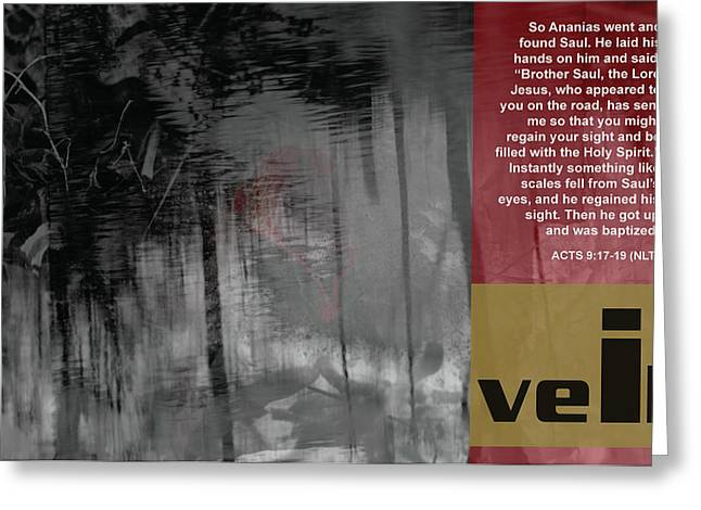 Veil A Greeting Card by Affini Woodley
