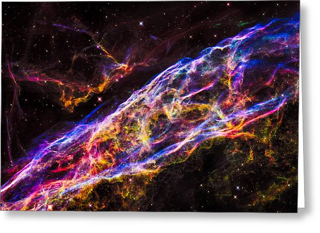 Veil Nebula Supernova Remnant Greeting Card