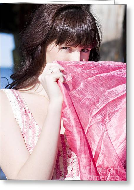 Veiled Beauty Greeting Card by Jorgo Photography - Wall Art Gallery