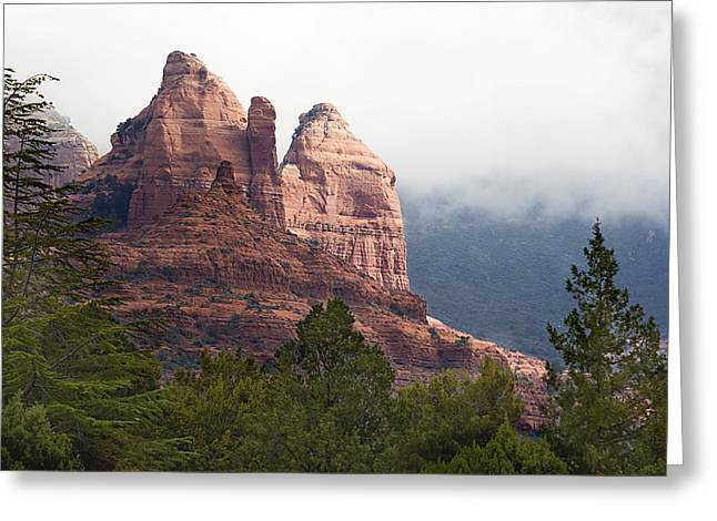 Greeting Card featuring the photograph Veiled In Clouds by Phyllis Denton
