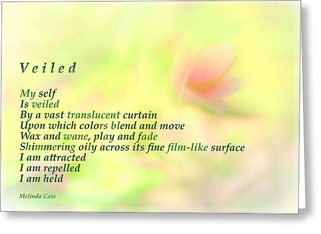 Veiled Greeting Card by Wendy Rickwalt