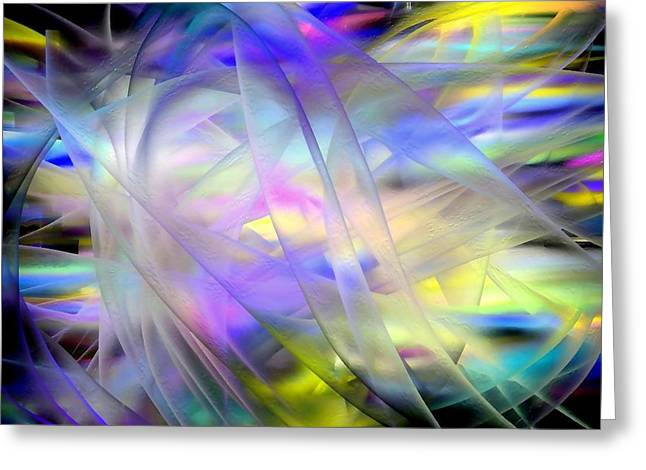 Veils Of Color Greeting Card by Greg Moores