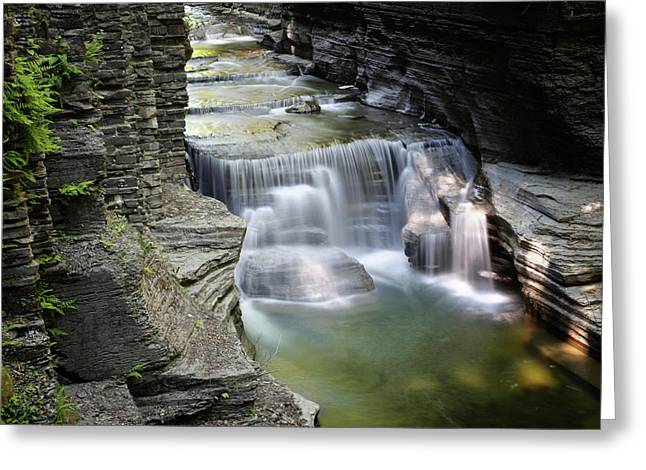Veils Of Enfield Glen Greeting Card by Gary Yost