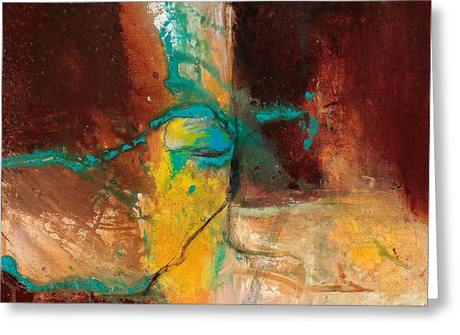 Vein Turquoise Greeting Card