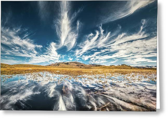 Veins Of Earth And Sky // Yellowstone National Park  Greeting Card