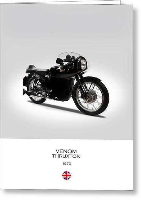Velocette Venom Thruxton 500 Greeting Card by Mark Rogan