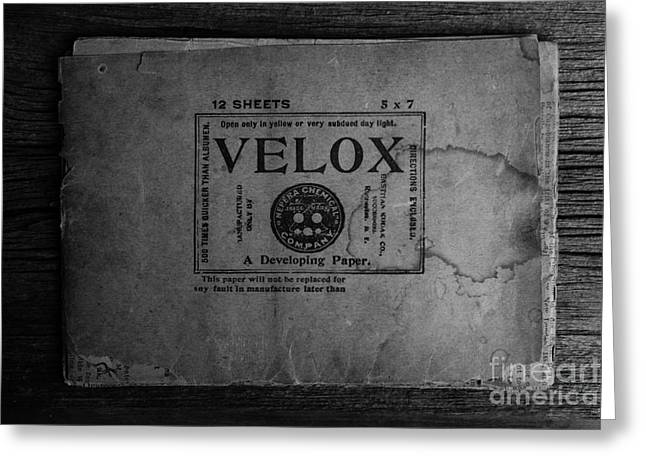 Velox Developing Paper Antique Paper Greeting Card