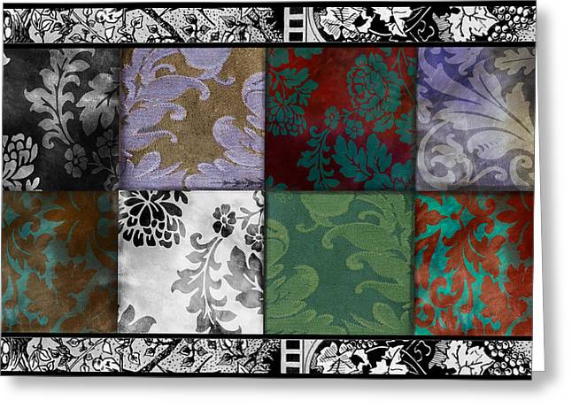 Velvet And Damask Tapestry Greeting Card by Mindy Sommers