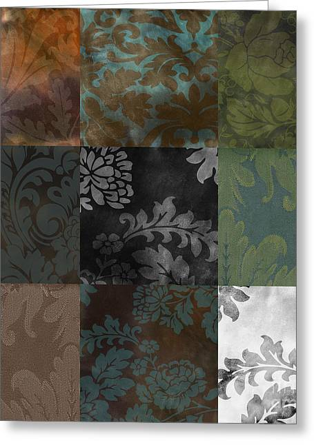Velvet Patchwork Greeting Card by Mindy Sommers