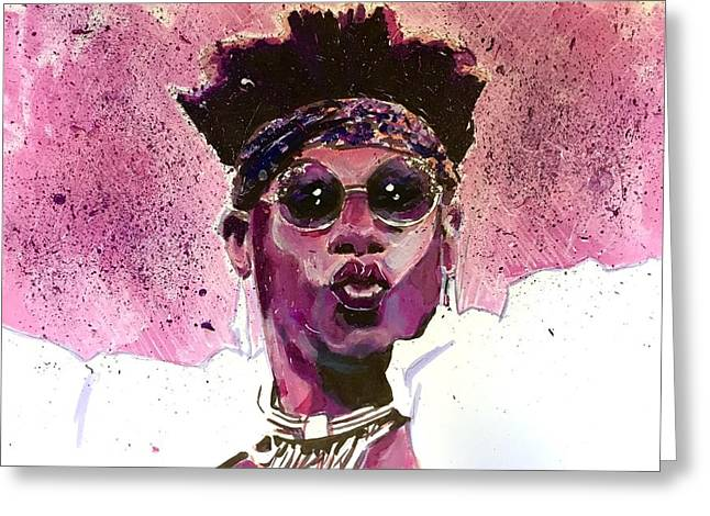 Greeting Card featuring the painting Velveteen Dream by Joel Tesch
