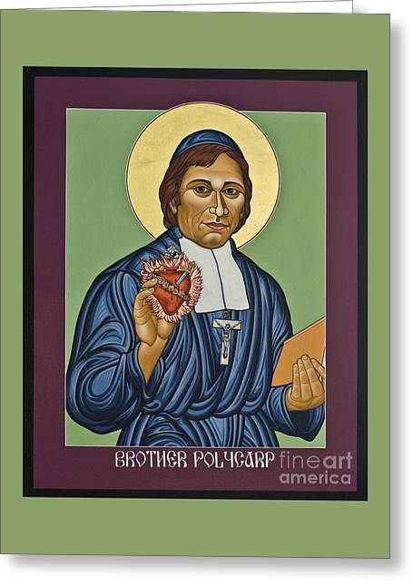 Venerable Br. Polycarp - Hippolyte Gondre - Lwply Greeting Card by Lewis Williams OFS