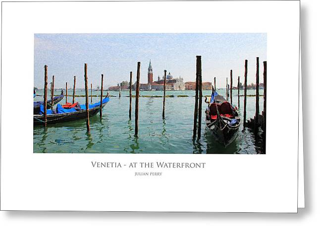 Venetia - At The Waterfront Greeting Card