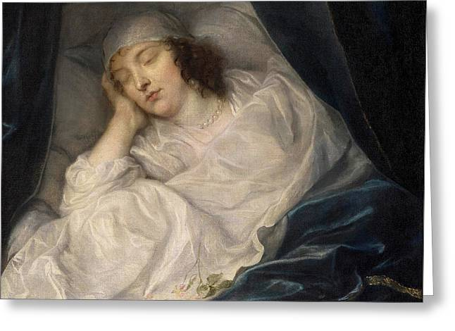 Venetia, Lady Digby, On Her Deathbed Greeting Card