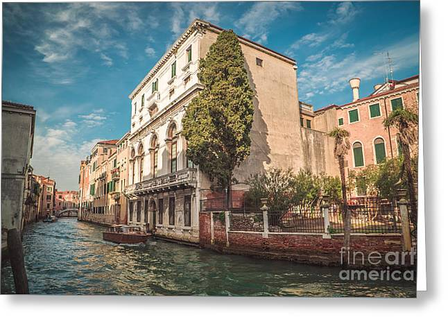 Venetian Architecture And Sky - Venice, Italy Greeting Card