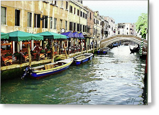 Venetian Cafes Greeting Card