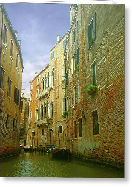 Greeting Card featuring the photograph Venetian Canyon by Anne Kotan