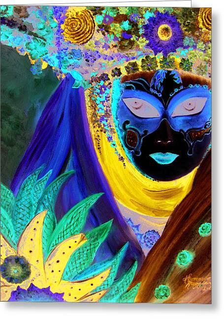 venetian carneval mask IV Greeting Card
