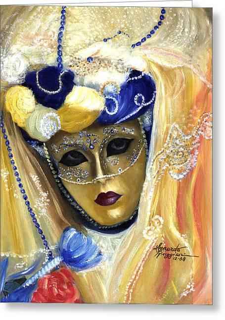 Leonardo Ruggieri Greeting Cards - venetian carneval mask V Greeting Card by Leonardo Ruggieri