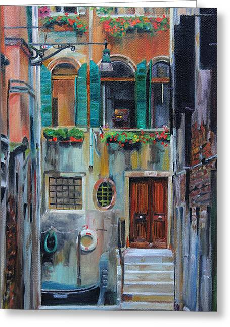Venetian Colors Greeting Card by Emily Olson