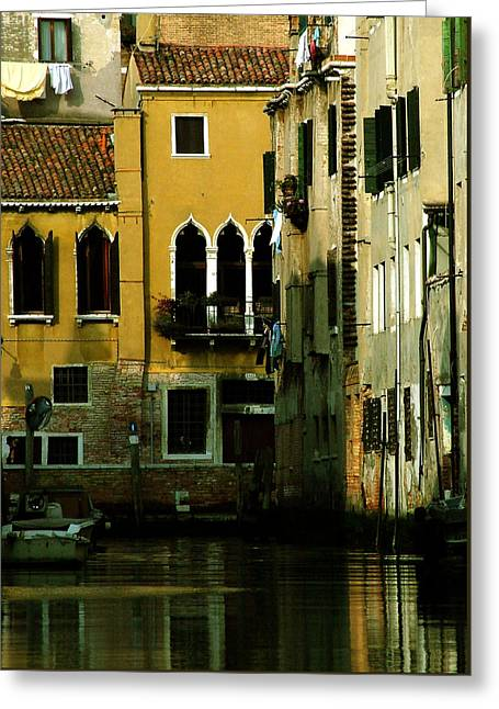 Venetian Gold Greeting Card by Donna Corless