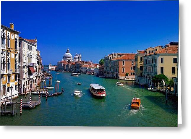 Greeting Card featuring the photograph Venetian Highway by Anne Kotan