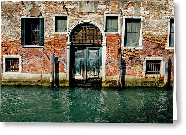 Venetian House On Canal Greeting Card