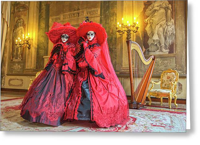 Venetian Ladies In The Palace Greeting Card