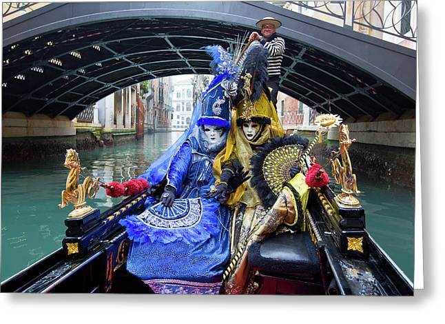 Venetian Ladies On A Gondola Greeting Card