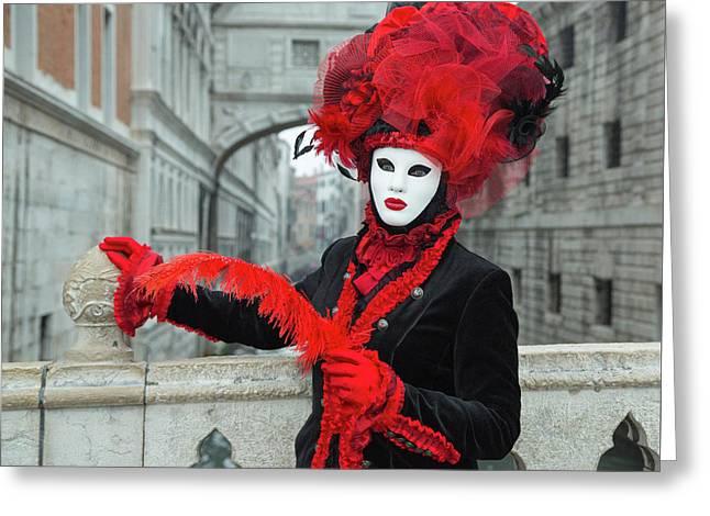 Venetian Lady At The Bridge Of Sighs Greeting Card