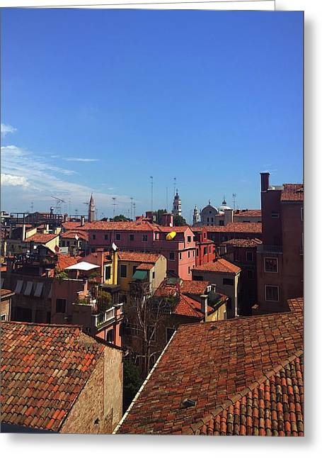 Greeting Card featuring the photograph Venetian Skyline by Anne Kotan