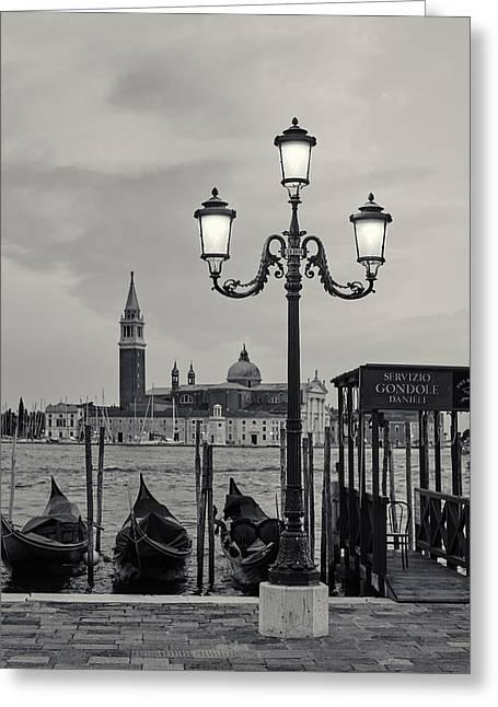 Venetian Streetlamp Greeting Card