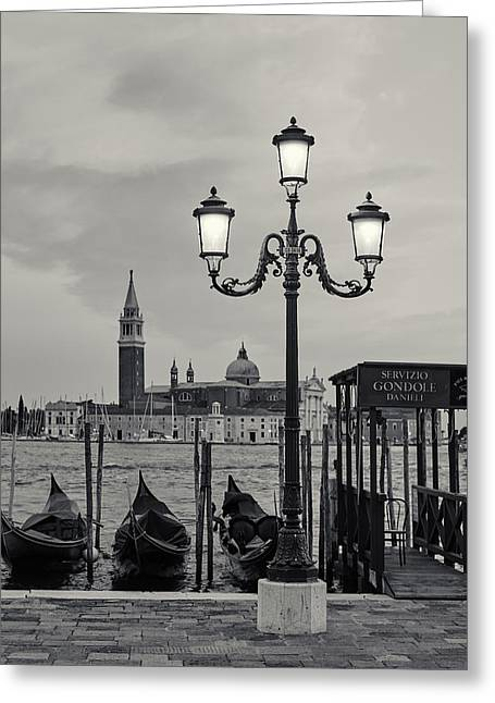 Venetian Streetlamp Greeting Card by Richard Goodrich