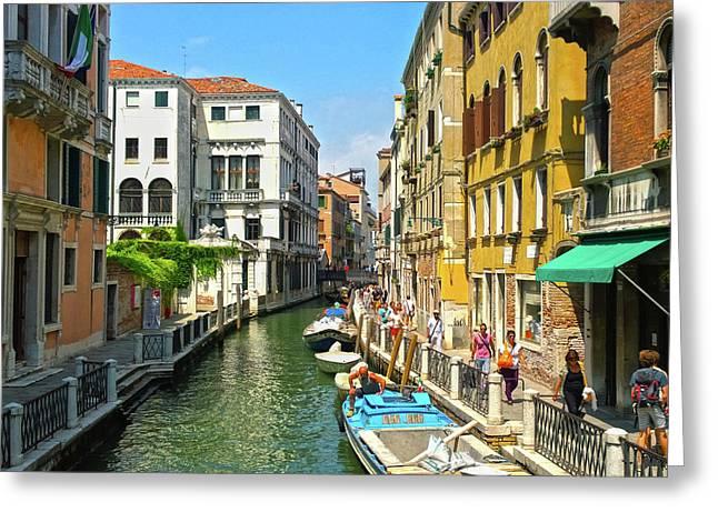 Greeting Card featuring the photograph Venetian Sunshine by Anne Kotan