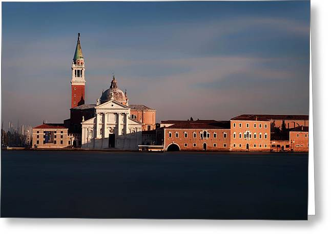 Greeting Card featuring the photograph Venetian View At Dusk by Andrew Soundarajan