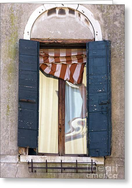 Venetian Windows Shutter Greeting Card by Heiko Koehrer-Wagner
