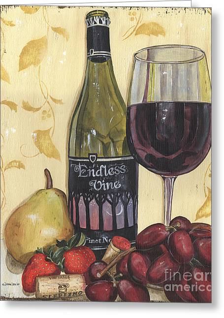 Veneto Pinot Noir Greeting Card by Debbie DeWitt