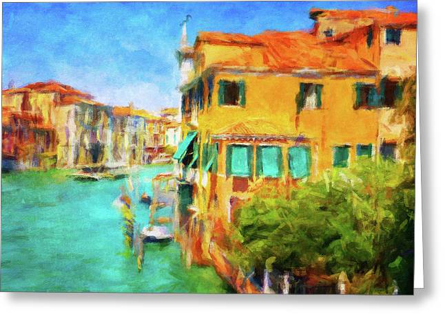 Venezia Afternoon Greeting Card by Connie Handscomb