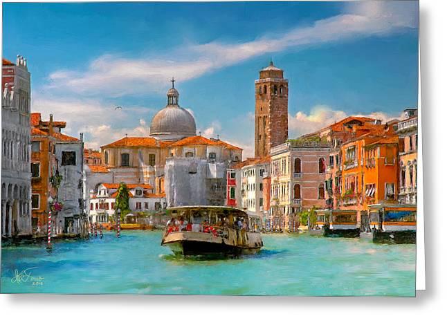 Venezia. Fermata San Marcuola Greeting Card