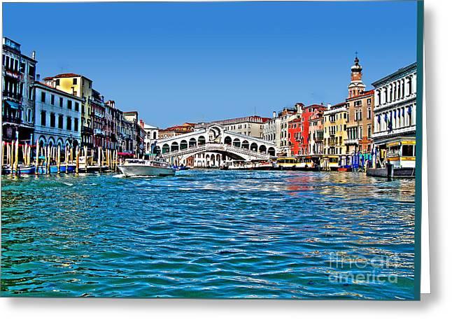 Venezia - Il Gran Canale - Ponte Rialto Greeting Card