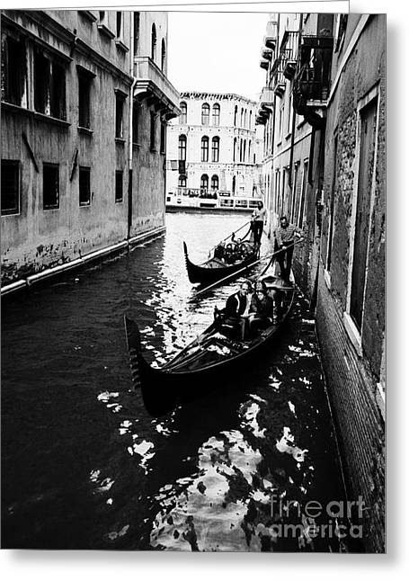 Venezia, Sightseeing In Gondola Greeting Card by Luigi Morbidelli